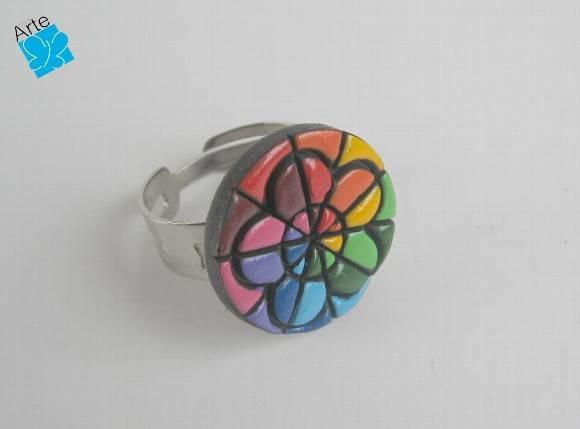 Anel flor 10 cores