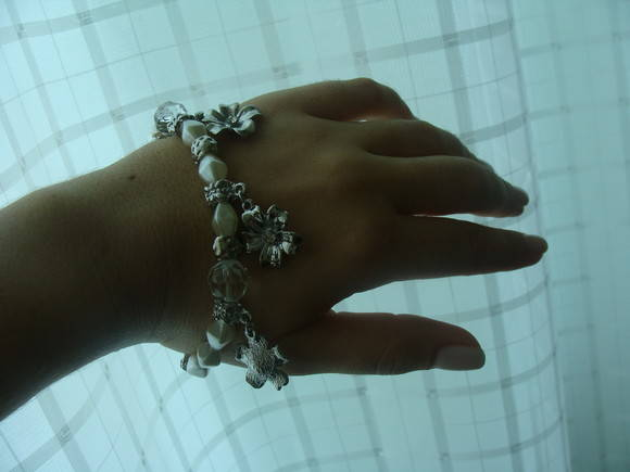 Pulseira Prata, Prolas e Cristais 15%OF