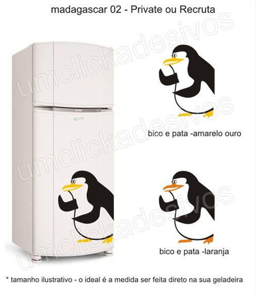Adesivo Geladeira Pinguim Madagascar ~ adesivo geladeira pinguim madagascar 2 Um click adesivos