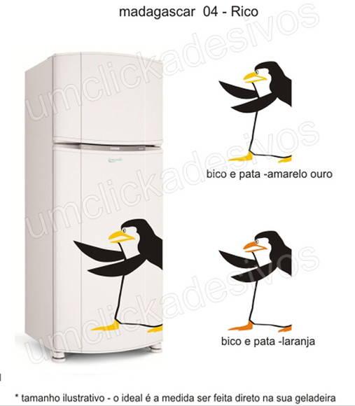Loja Artesanato Zona Sul ~ adesivo geladeira pinguim madagascar 4 Um click adesivos