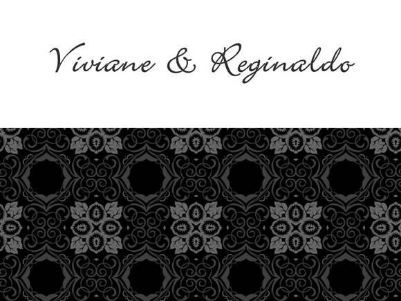 Convite de casamento Viviane e Reginaldo