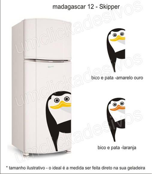 Loja Artesanato Zona Sul ~ adesivo geladeira pinguim madagascar 12 Um click