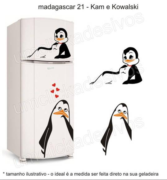 Loja Artesanato Zona Sul ~ adesivo geladeira pinguim madagascar 21 Um click