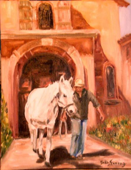 Treinador e seu cavalo