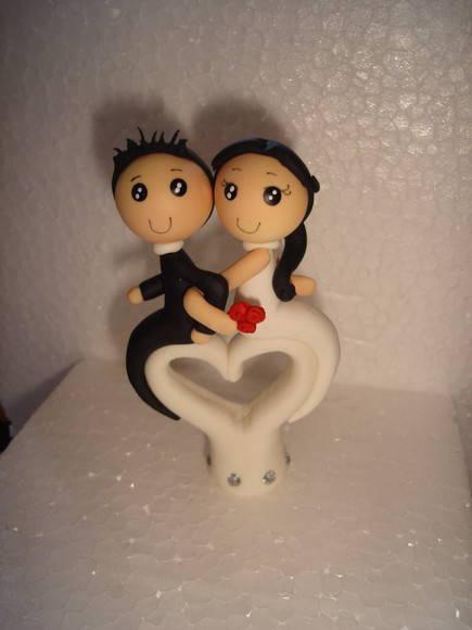 lembrancinha casal no cora��o