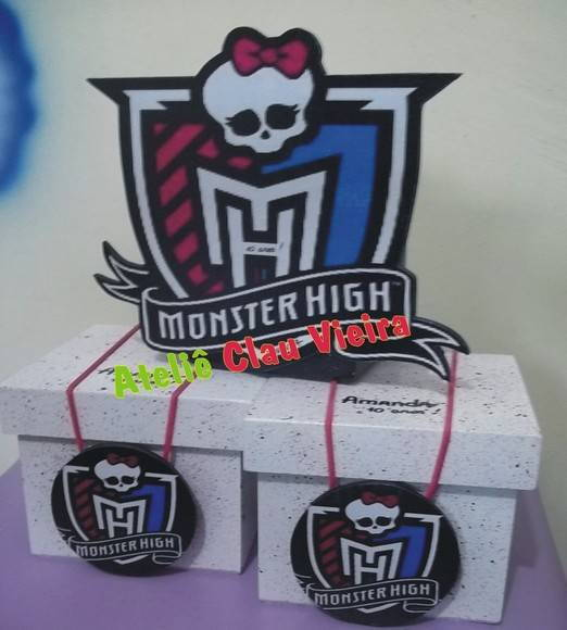 ENFEITE MESA MONSTER HIGH