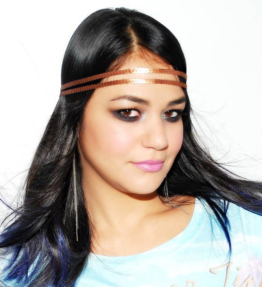 Headband Fashion:bronze