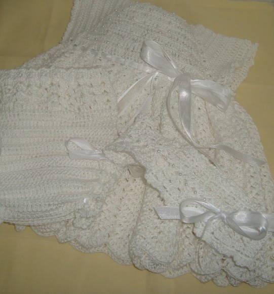 Vestido bebe crochet