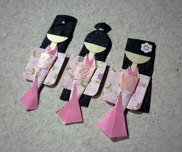 Kit c/ 3 JAPONESINHAS mini
