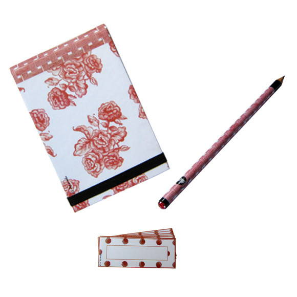 Kit bloquinho rose crayon