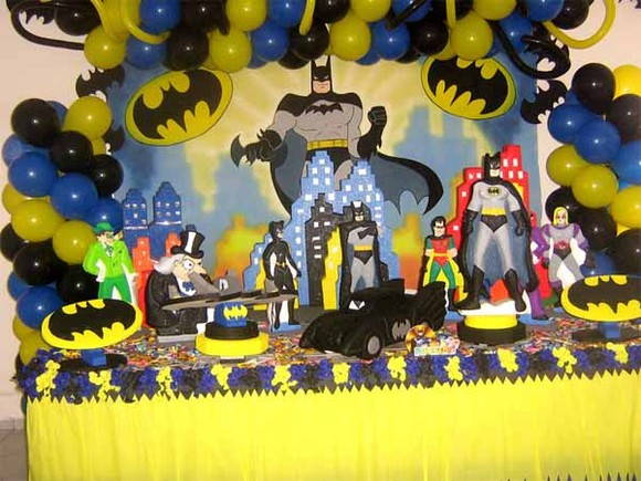 decoracao festa batman : decoracao festa batman:Mesa De Aniversario Batman