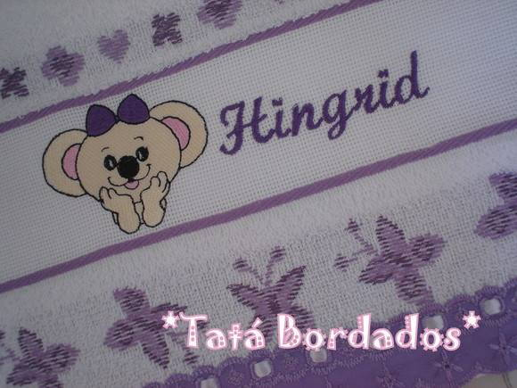 Toalha Infantil Lilica - Branco / Lil�s