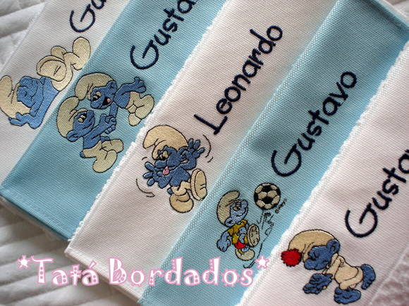 Kit Toalhas Infantis &quot;Os Smurfs&quot;