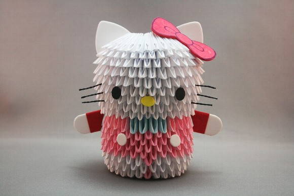 Origami 3d Kitty Paso A Paso