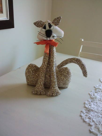 gato em tecido   Linha Criativa Ateliê   Elo7