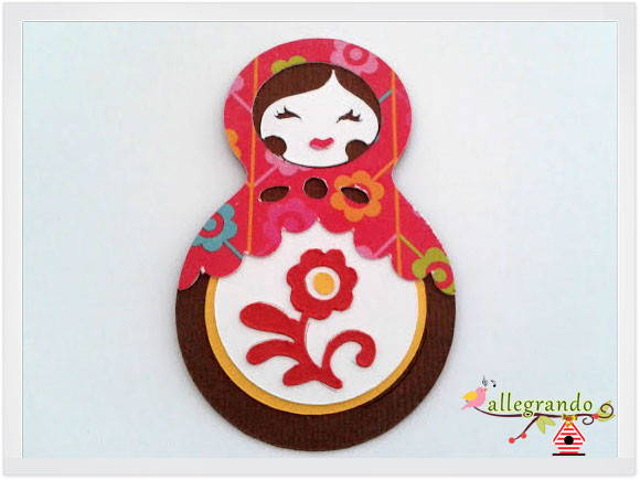 Matrioshka, boneca russa - scrapbooking