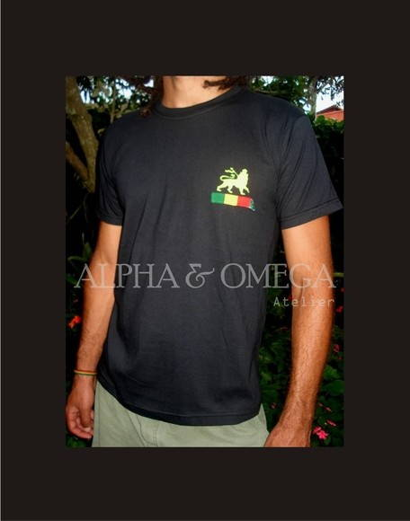 T-shirt Reggae PRETA