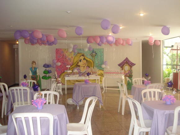 Decorao de Festa Provenal Rapunzel