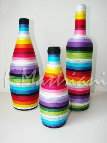 garrafas decoradas enfeite mesa garrafas decoraradas enfeite mesa dos