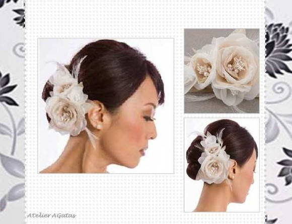 Fascinator - Duo  Flower