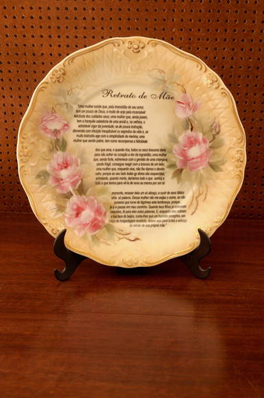 """Prato de porcelana """"Retrato de M�e"""""""