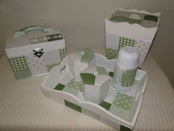Kit Higiene Para Banheiro Infantil : Kit higiene infantil coisas de rosinha elo