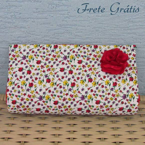 Clutch Floral Mistrio - Frete Grtis