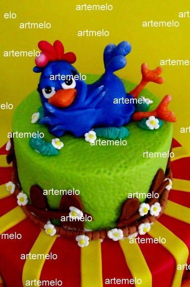 topo de bolo da galinha pintadinha