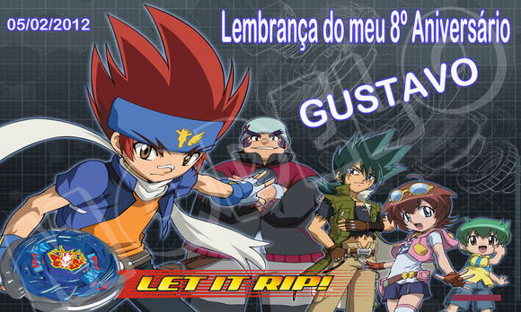 Adesivo Balde de Pipoca Beyblade