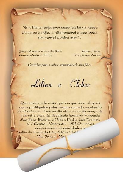 Convite de casamento pergaminho 1EF1CC | GRÁFICA PALIC CONVITERIA