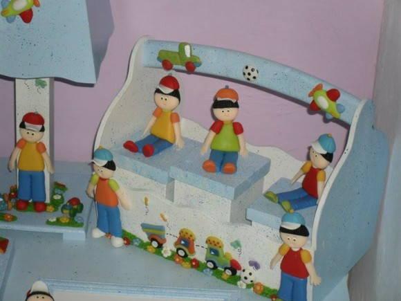 cesta com 3potes porta higienicos