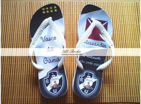 Sandlias Personalizadas Vasco da Gama