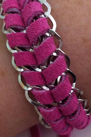 Pulseira corrente com camura