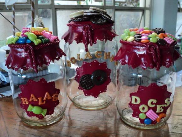 Vidros decorados biscuit