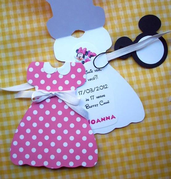 Molde de convite da Minnie rosa - Imagui