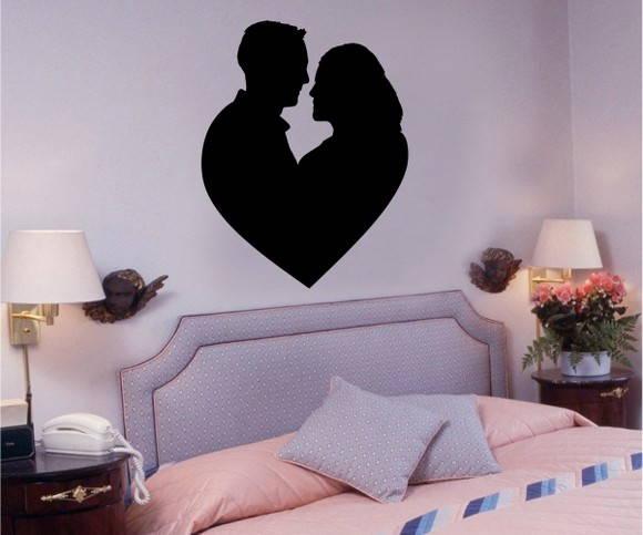 Adesivo Casal Coração FRETE GRÁTIS Aplikativo Adesivos ~ Adesivo De Parede Para Quarto Casal Romantico