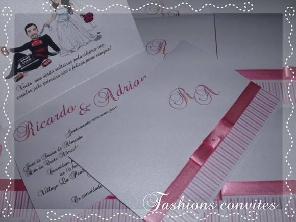 Convites de casamento Fashions convites