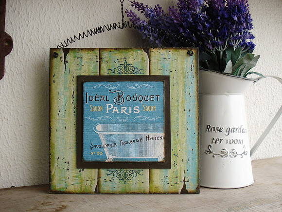 Placa para Toilette Bouquet