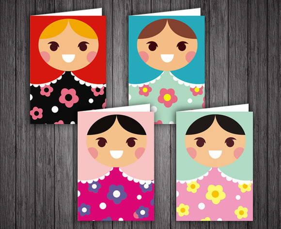 Notecard Matrioska - Set com 4 cartões