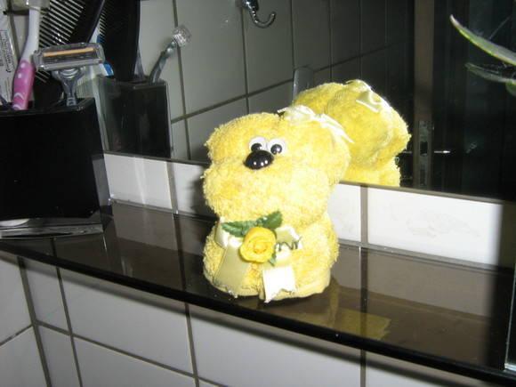 decoracao toalha lavabo:Enfeite para lavabo feito de toalha