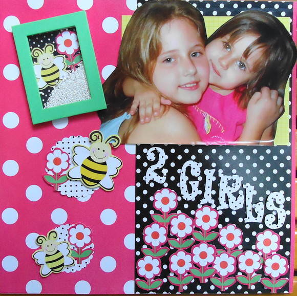 Quadro de scrapbooking: Tema Girls