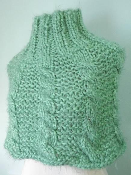 Mini poncho verde menta