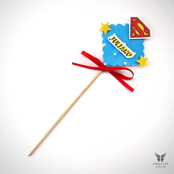 Palito Decorativo Superman