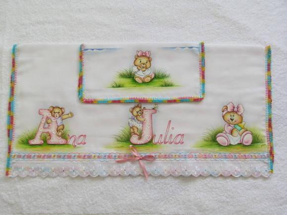"""Kit de Fraldas com Nome - """"Ana Julia"""""""