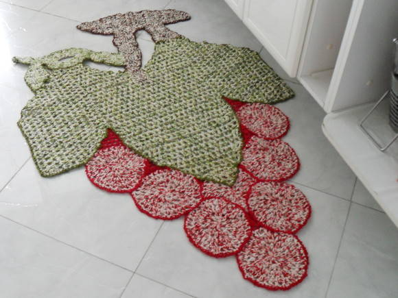 Arte Brasil Tapete De Croche Em Tiras : tapete artesanal de barbante Tapete M?gico Elo7