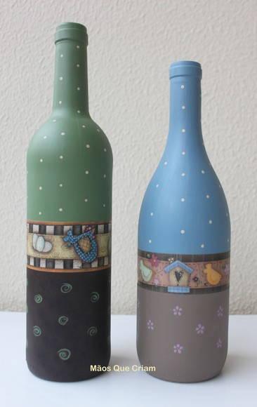 garrafas de vidro decoradas jpg Quotes