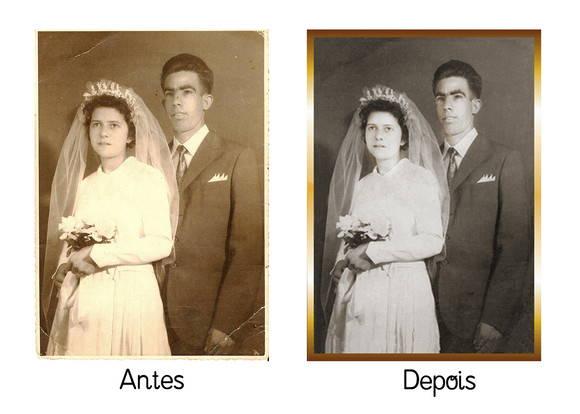Restaura��o de fotos antigas, danificada