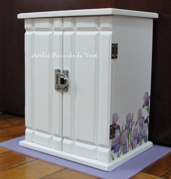 Armarinho Porta J�ia Flocado Luxo