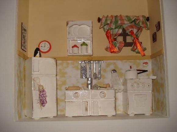 quadros em miniaturas (roombox) de ambie