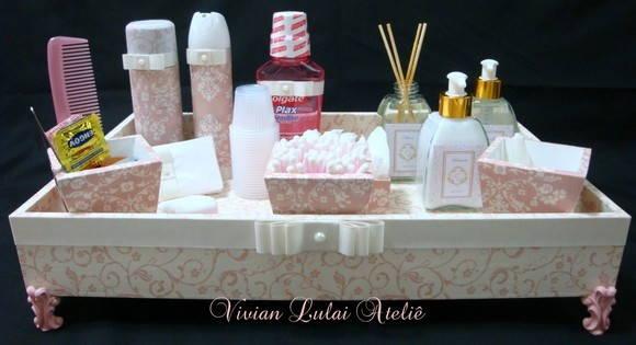 Kit Para Banheiro No Casamento : Kit toalete p casamentos e festas vivian lulai elo